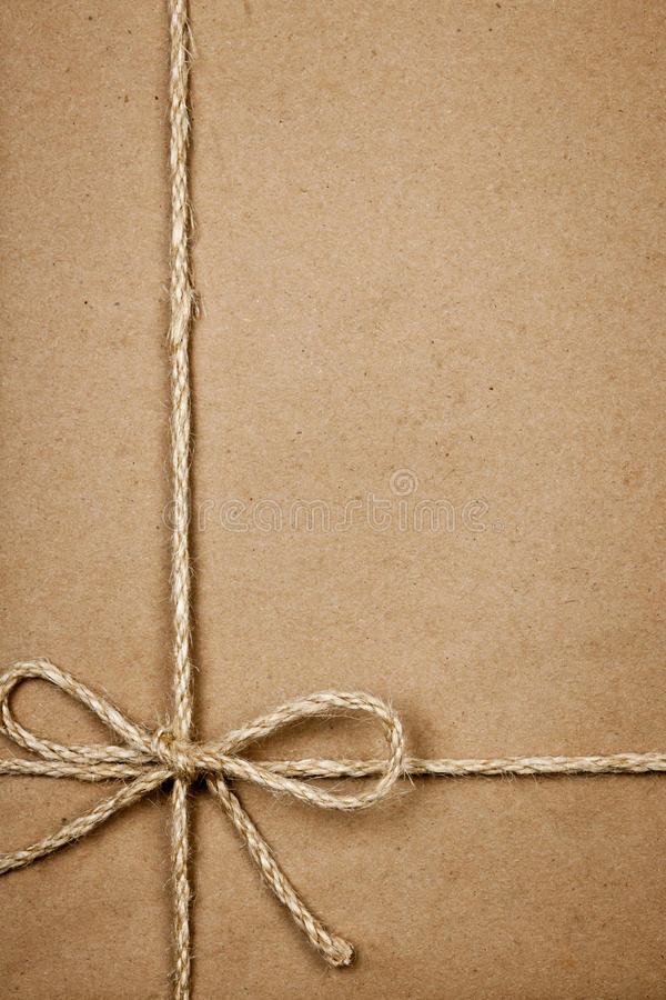 Download Package In Brown Paper Tied With String Stock Image - Image: 28802797