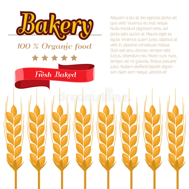 Package design for Bakery. Flat and solid design vector illustration stock illustration