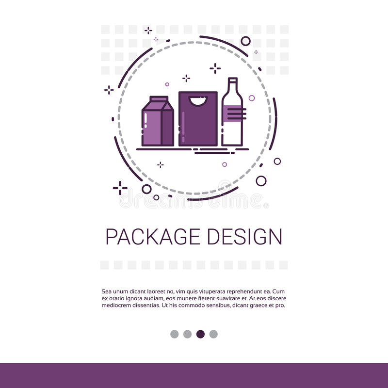 Package Design Good Branding Banner With Copy Space royalty free illustration