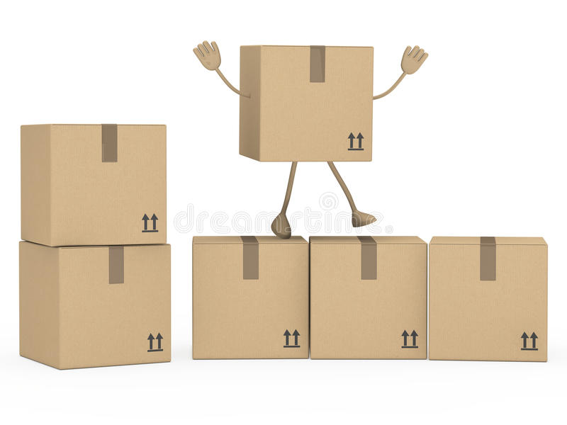 Download Package figur stock illustration. Image of cargo, shipping - 23518324