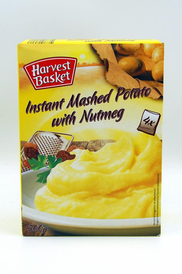 Package of Harvest Basket instant mashed potato royalty free stock images