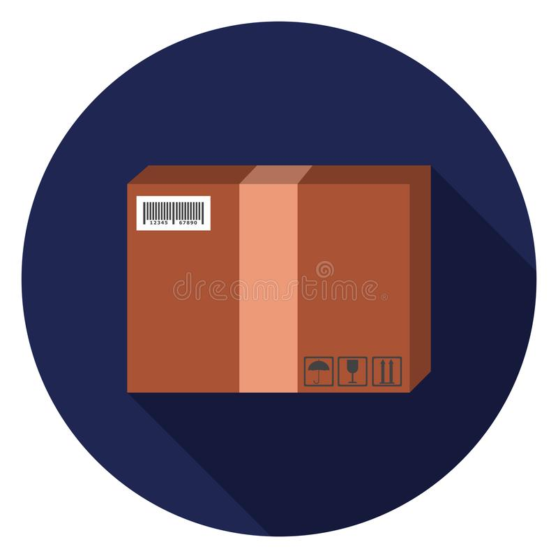 Package icon in flat design. vector illustration