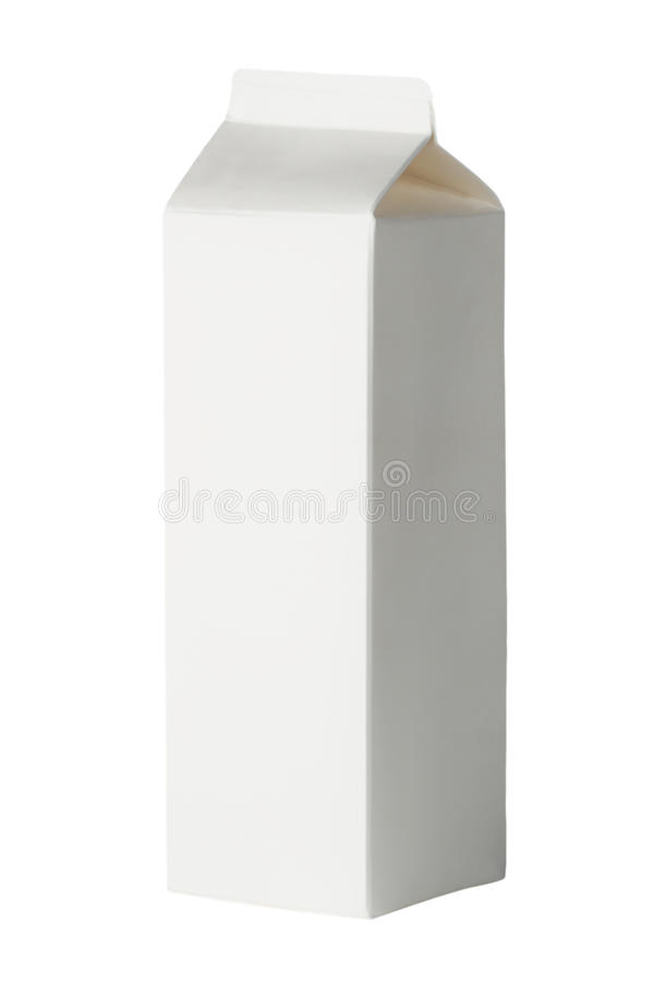 Package of milk stock photography