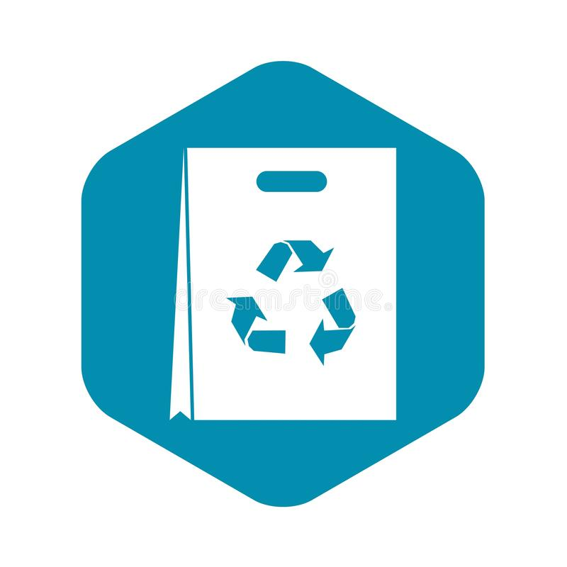 Package recycling icon, simple style. Package recycling icon in simple style isolated on white background vector illustration