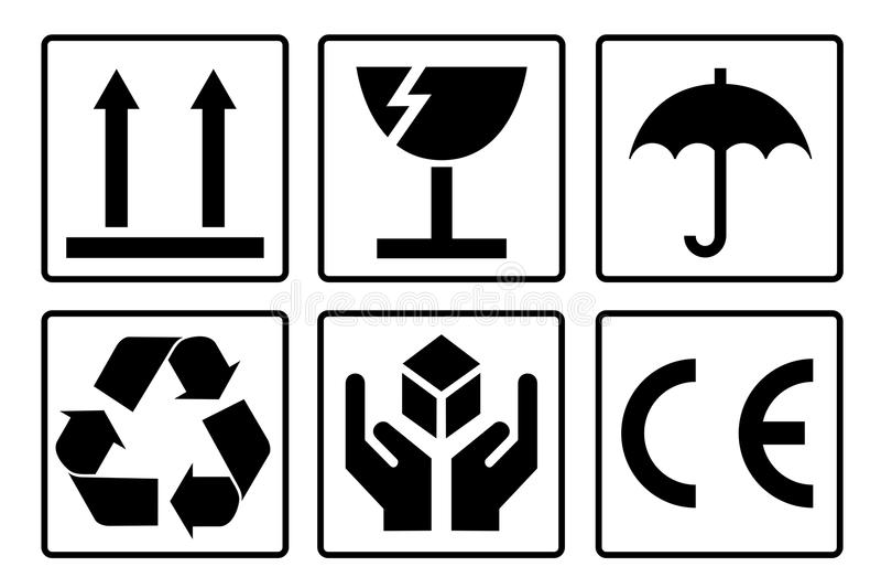 Package Symbols vector illustration