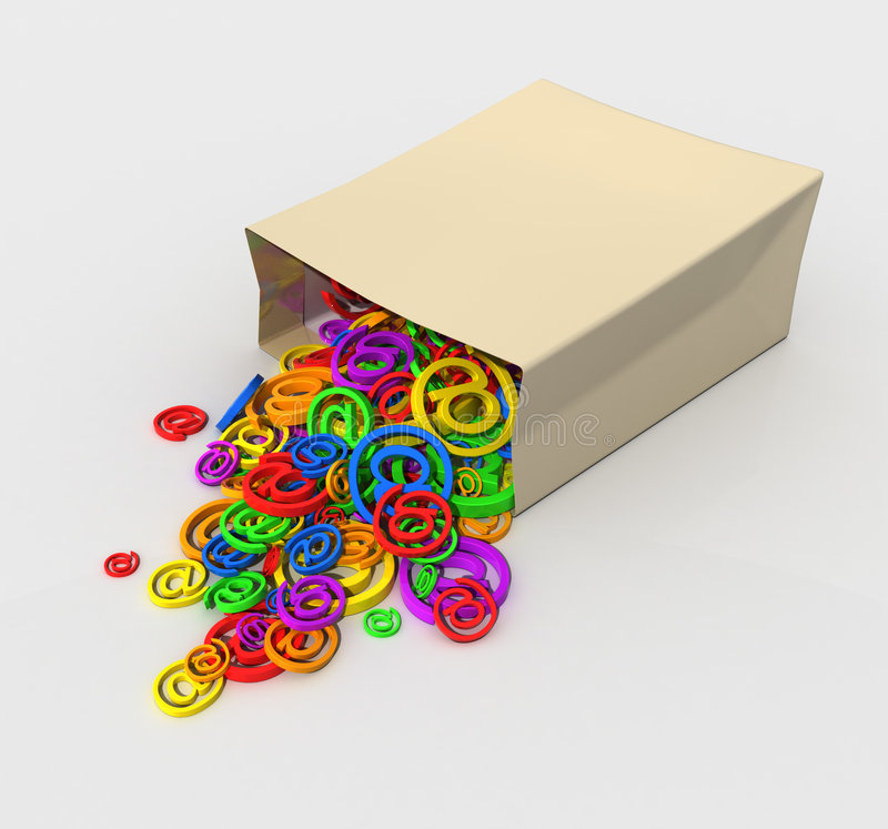 Package of symbols stock photos