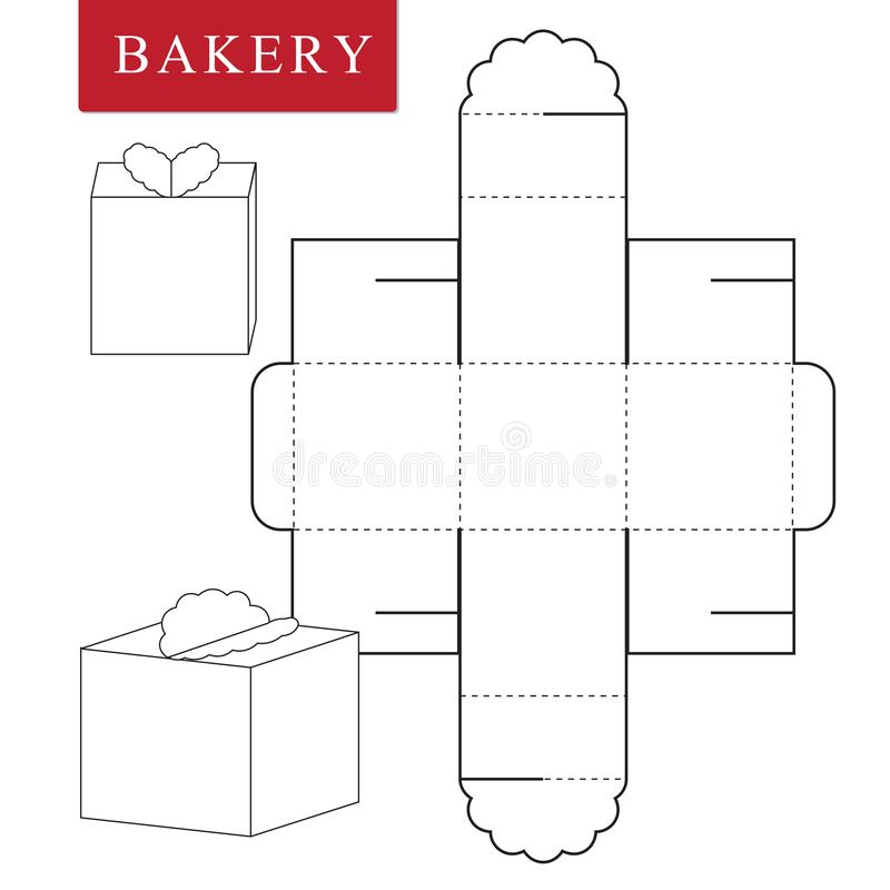 Package template for bakery food or Other items vector illustration
