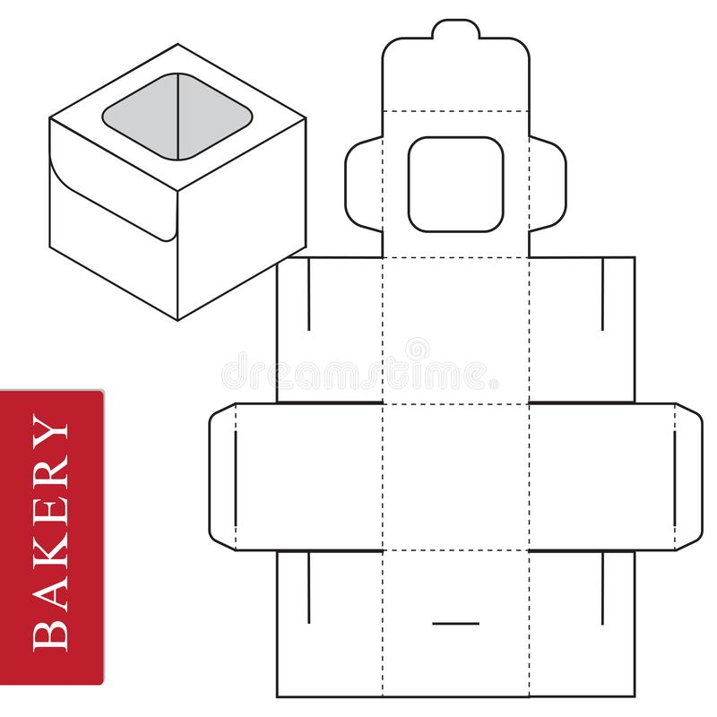 Package template for bakery food or Other items stock illustration