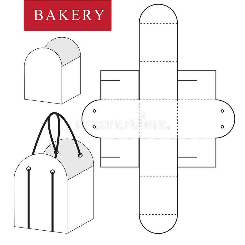 Package template for bakery food or Other items royalty free illustration