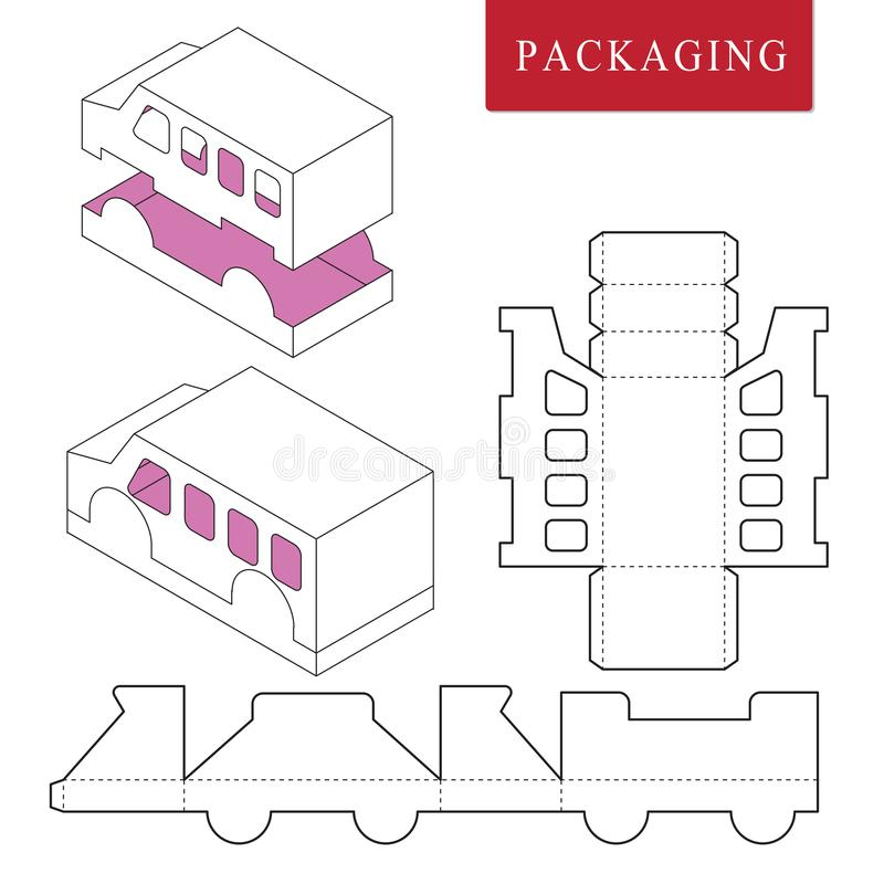 Package Template. Isolated White Retail Mock up vector illustration