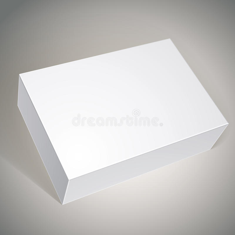 Package white box design, template for your package design, put stock illustration