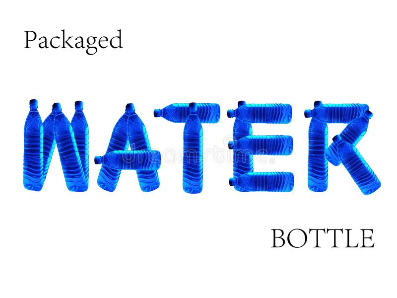 Download Packaged Water Bottle stock illustration. Illustration of refresh - 11718698