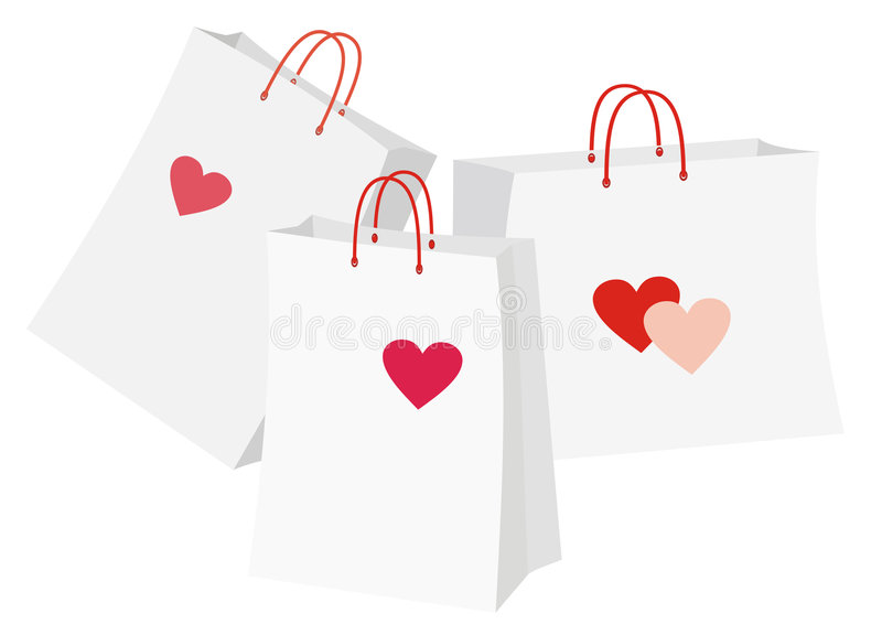 Packages With Heart Stock Image