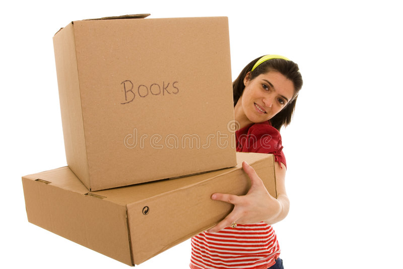 Packages for house moving royalty free stock photo