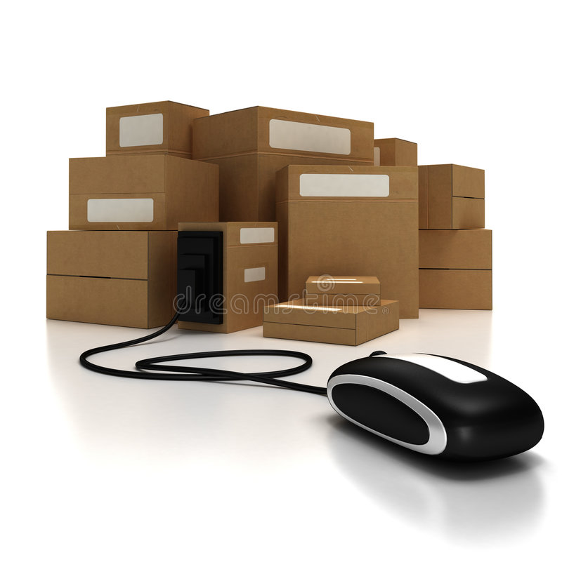 Download Packages With Mouse (lateral) Stock Photo - Image of cargo, brown: 3222046