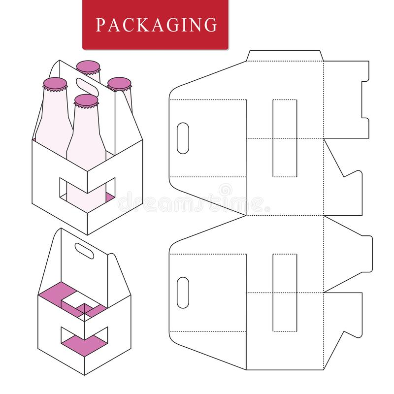 Packaging for can bottle.Isolated White Retail Mock upVector Illustration of Box. vector illustration