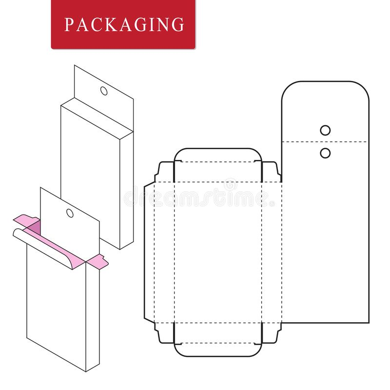 Packaging for cosmetic or skincare product royalty free illustration