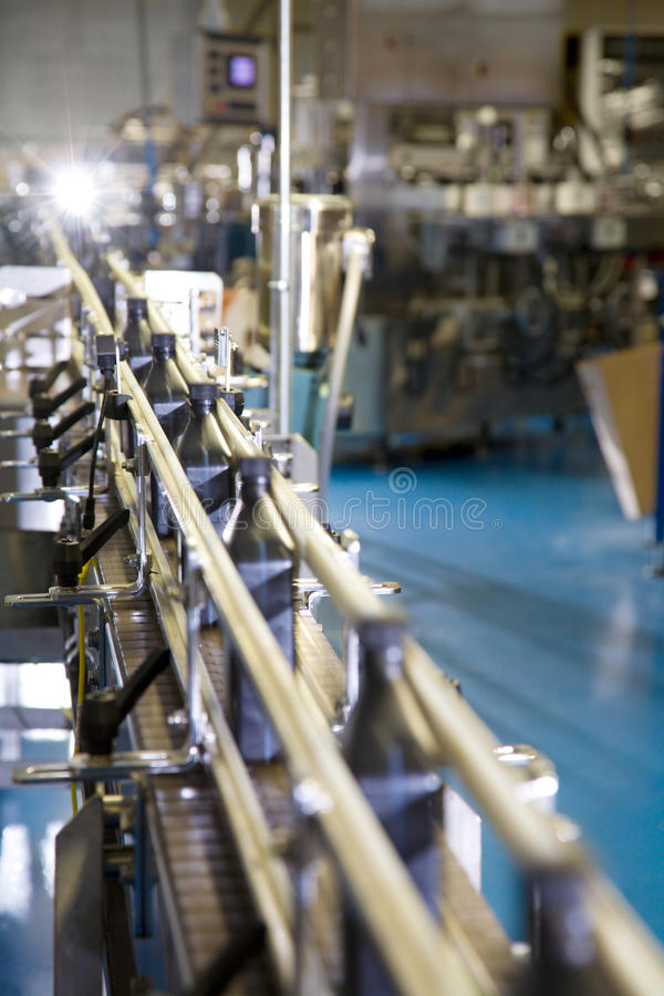 Packaging line stock photo