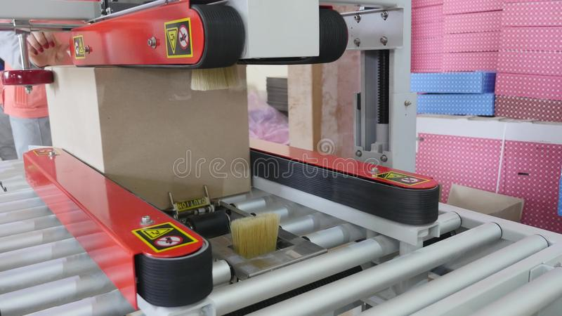 Download Packaging Machine At Workshop Of Food Factory Process Of Packaging Candy In Foil Package Factory Worker Automated Stock Image - Image of pastry, plant: 93781315