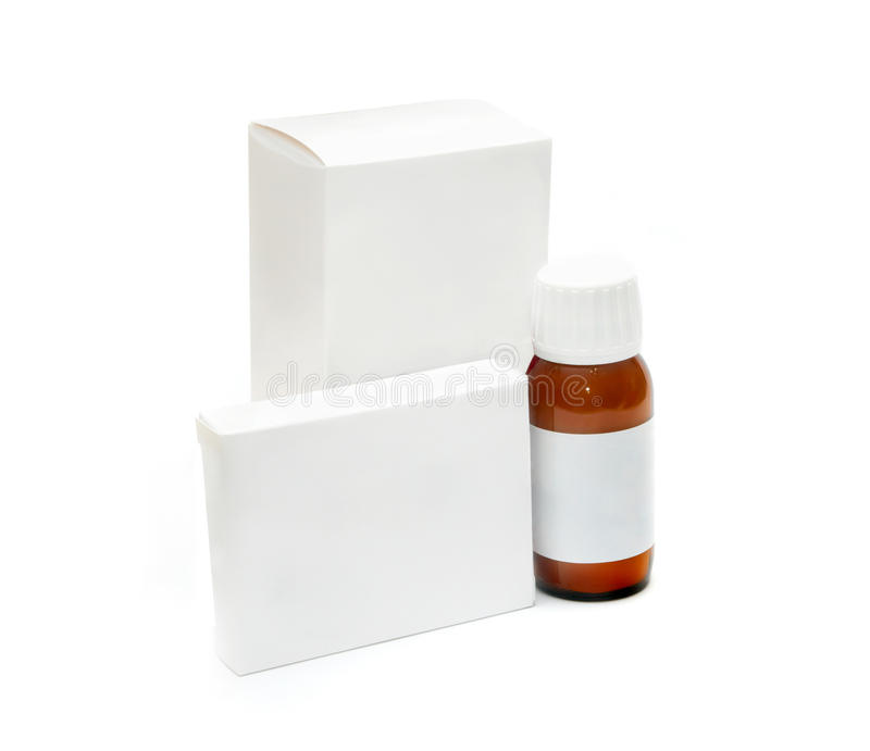 Packaging Of Medicines Stock Image