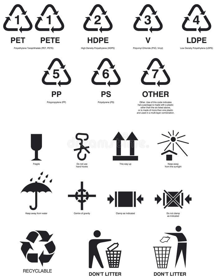 Packaging symbols stock illustration