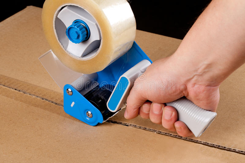 Packaging tape dispenser royalty free stock photography