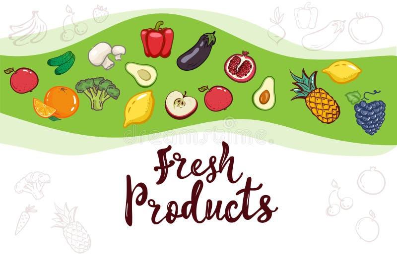 Packande malldesign Baner för vektorillustrationlimefrukt Design för mat Handbokstäver för restaurangen, kafémeny vektor illustrationer