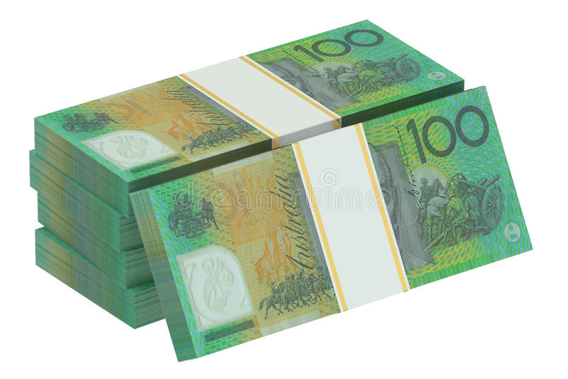 Packar av australiska dollar stock illustrationer