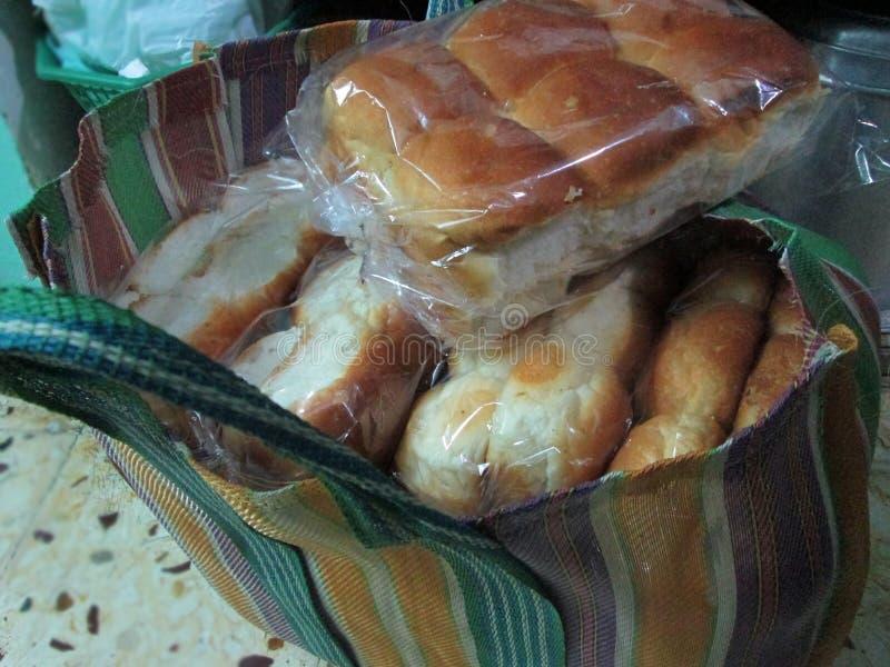 Packar av bröd arkivfoto