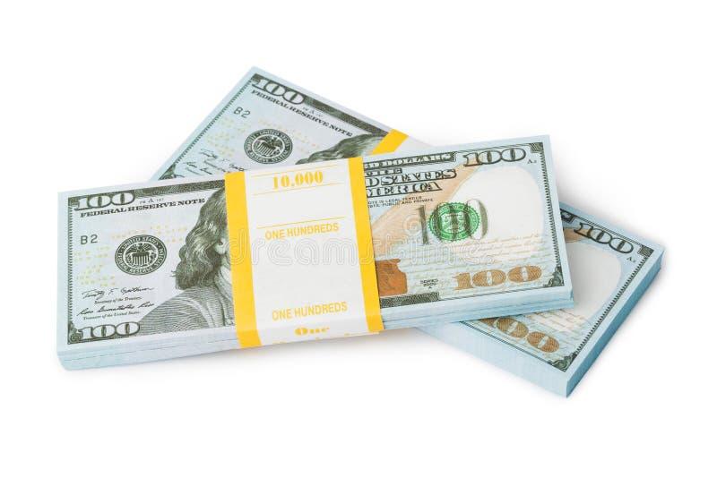 Packar av pengar royaltyfria bilder
