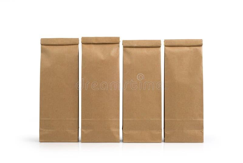 Packar för Kraft papper royaltyfri foto