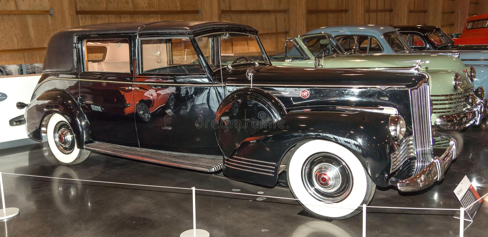 1942 Packard on display royalty free stock photography