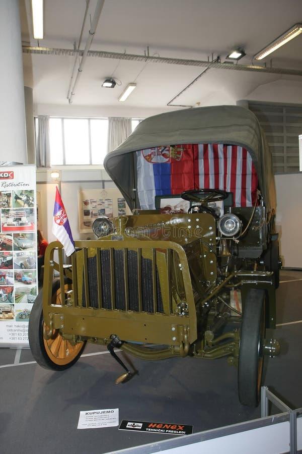 Packard modela E ciężarówka przy Belgrade car show obrazy stock