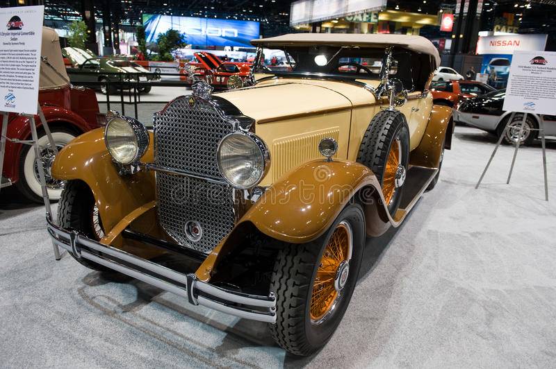 Packard Roadster at the Chicago Auto Show. CHICAGO - FEBRUARY 7: The 1930 Model 733 Packard Roadster at the 2013 Chicago Auto Show on February 7, 2013. First stock images