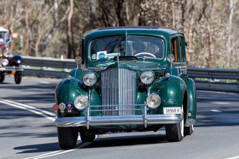 Packard 1938 1607 sedan för tolv klubba royaltyfri foto