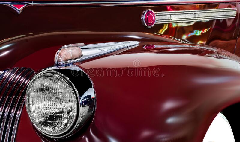1941 Packard Sport Sedan Design Element, Los Angeles, Kalifornien lizenzfreies stockfoto