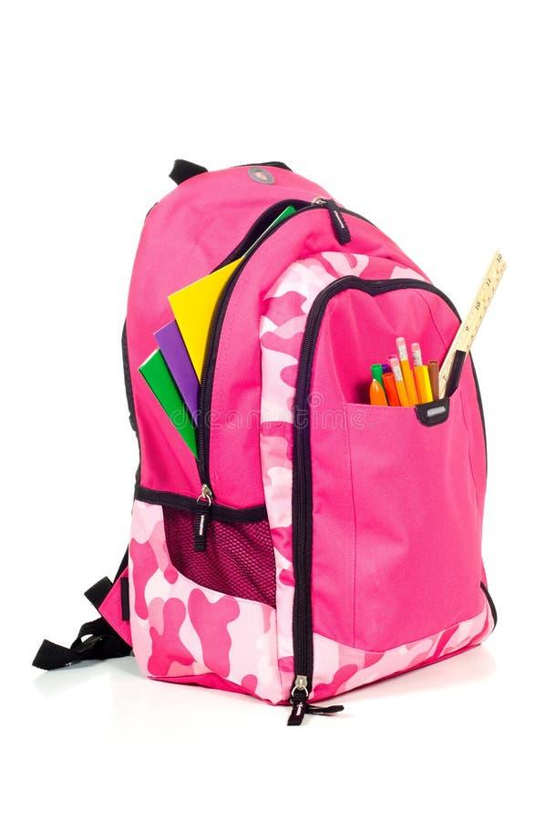 Packback cor-de-rosa imagens de stock royalty free
