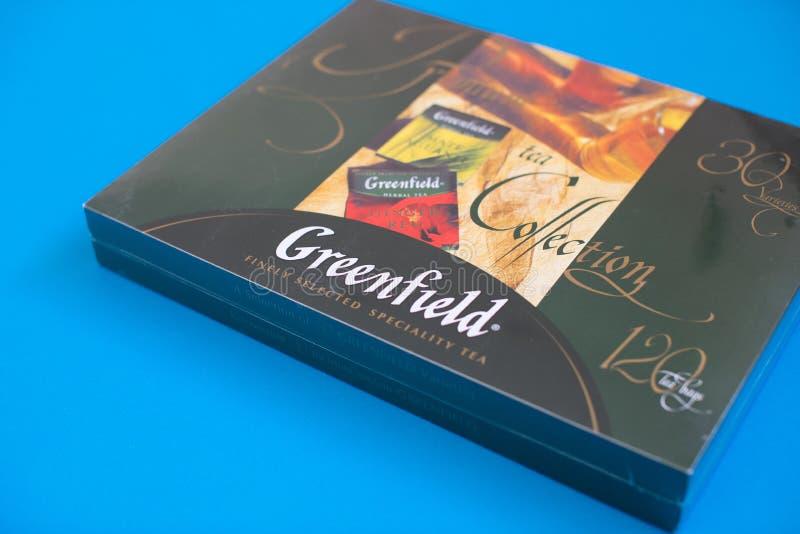 Packe av Greenfieldte med många olika anstrykningar royaltyfria foton