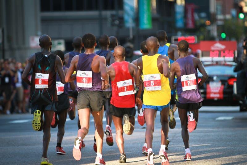 packe för chicago ledaremaraton royaltyfri foto