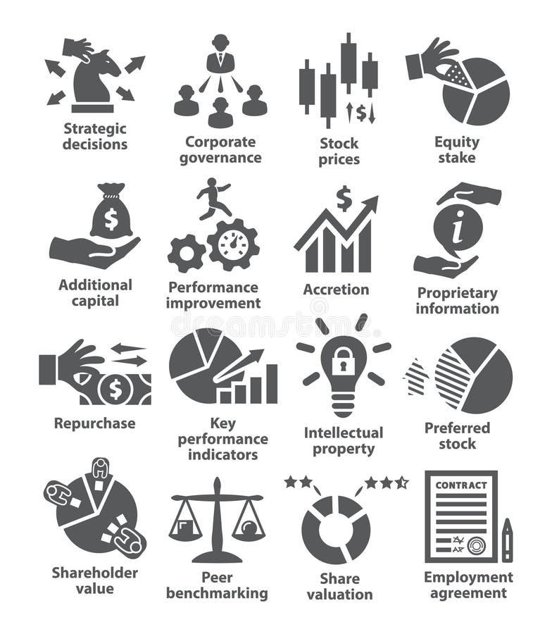 Packe 42 för symboler för affärsledning vektor illustrationer
