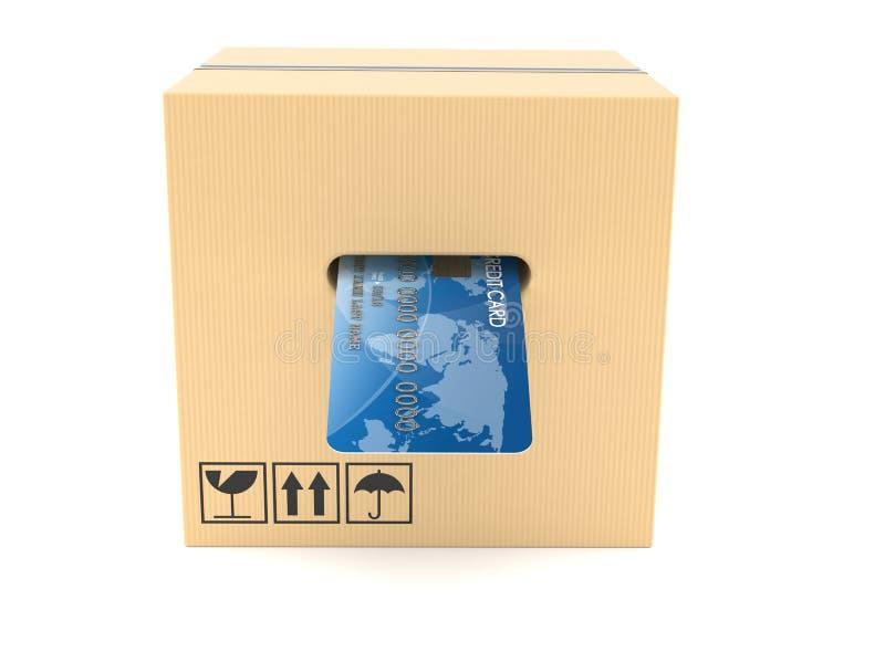 Packe med kreditkorten inom royaltyfri illustrationer