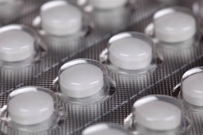 Packe med pills royaltyfri bild