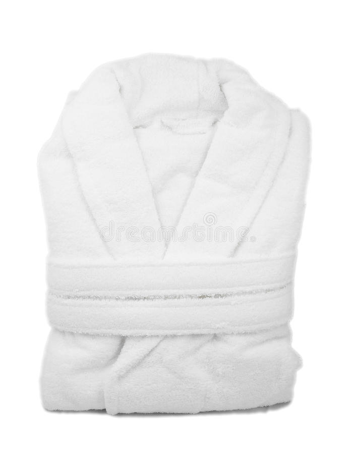 White bathrobe royalty free stock photo