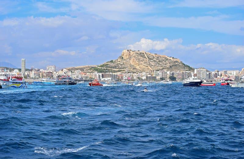 Alicante Castle Volvo Ocean Race Alicante stock images