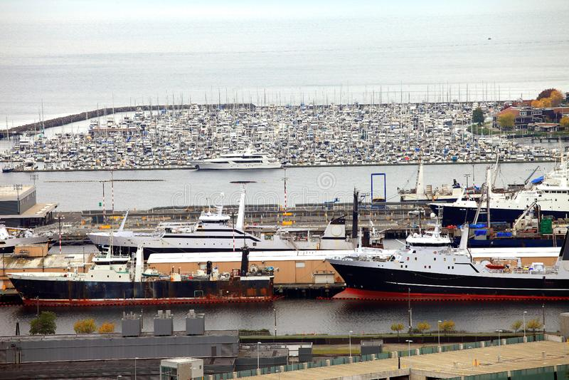 Download Packed Marina & Fishing Vessels, Seattle WA. Stock Photo - Image of marine, processing: 16429122