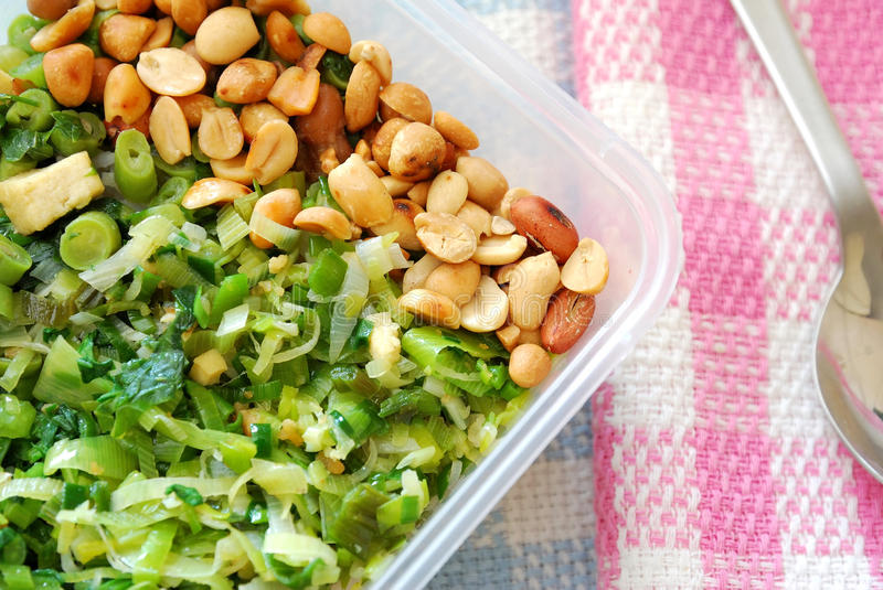 Packed meal with mixture of vegetables royalty free stock photography
