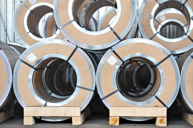 Download Packed Rolls Of Steel Sheet Stock Photo - Image: 22888990