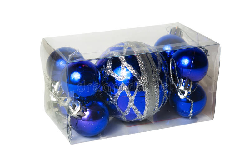 Download Packed In Transparent Plastic Box Christmas Balls Stock Image - Image: 30619875