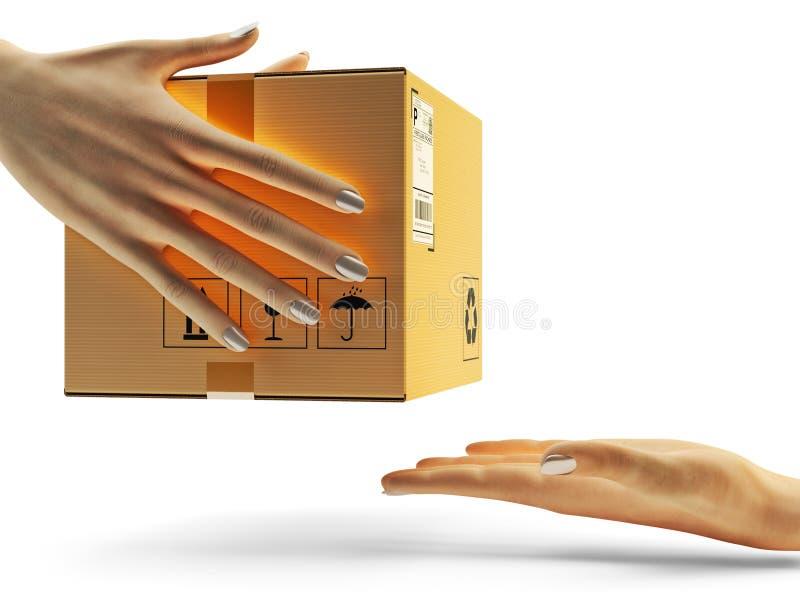 Packehemsändning, jordlotttrans.begrepp vektor illustrationer