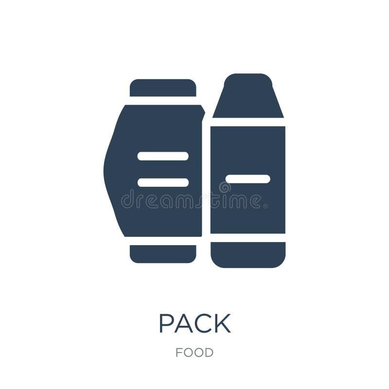 packesymbol i moderiktig designstil Packesymbol som isoleras på vit bakgrund enkelt och modernt plant symbol för packevektorsymbo vektor illustrationer